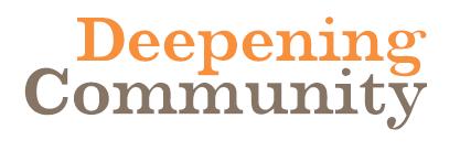Deepening Community Logo