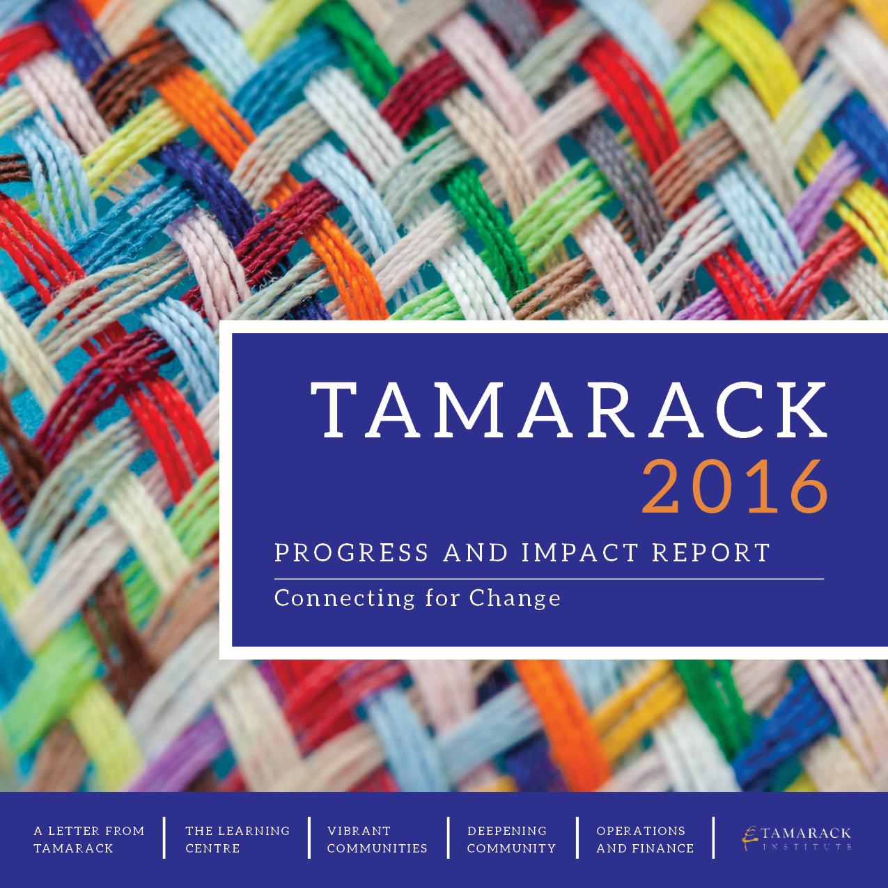 Tamarack Yearly Report Cover
