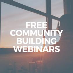 2020 Free Community Building Webinars Square