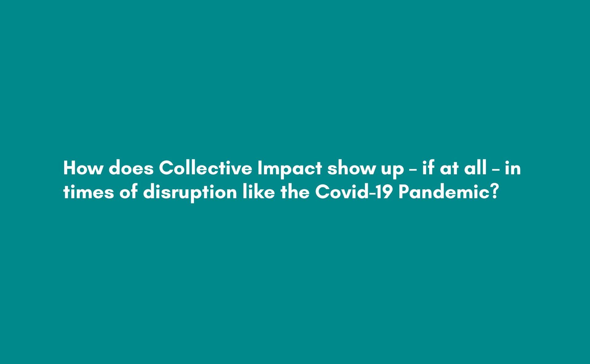 2020 Webinar Collective Impact 3.0