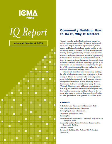 IQ Report on Community Building