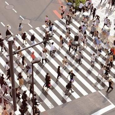 human crowd square