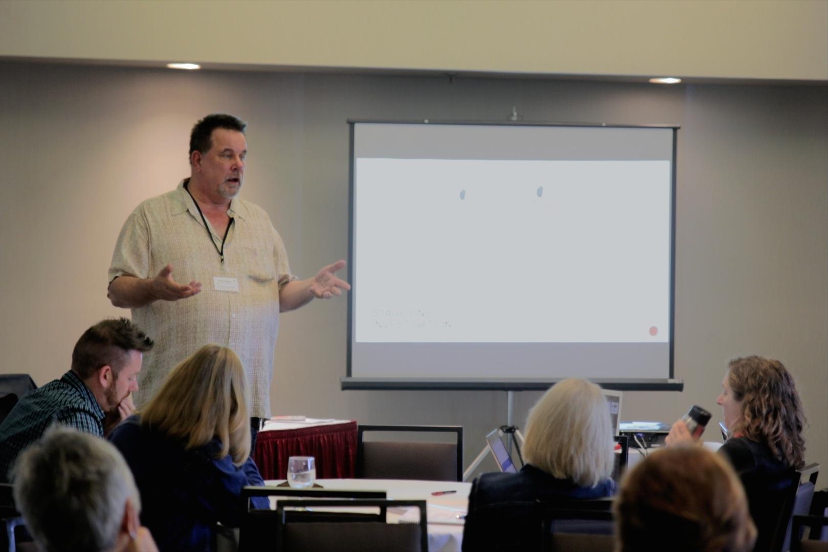 Mark Holmgren teaching