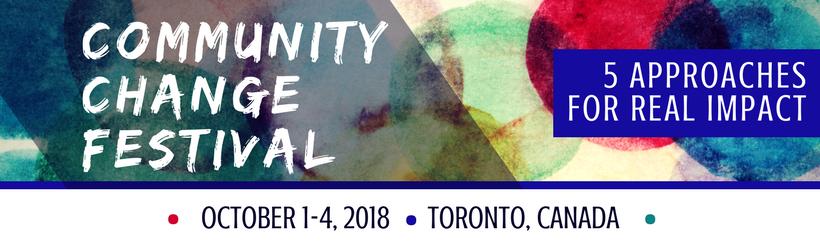 Community Change Festival banner