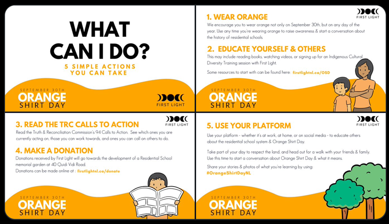 First Light: Things anyone can do on Orange Shirt Day