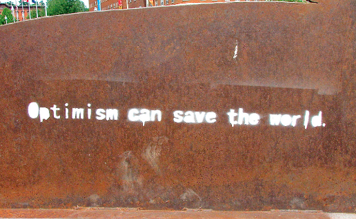 Optimism can save the world