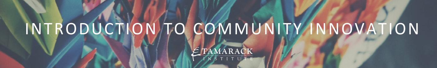 2019 Introduction to Community innovation Banner 1