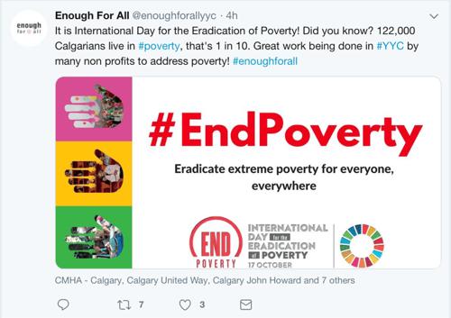 EndPoverty Tweet 4