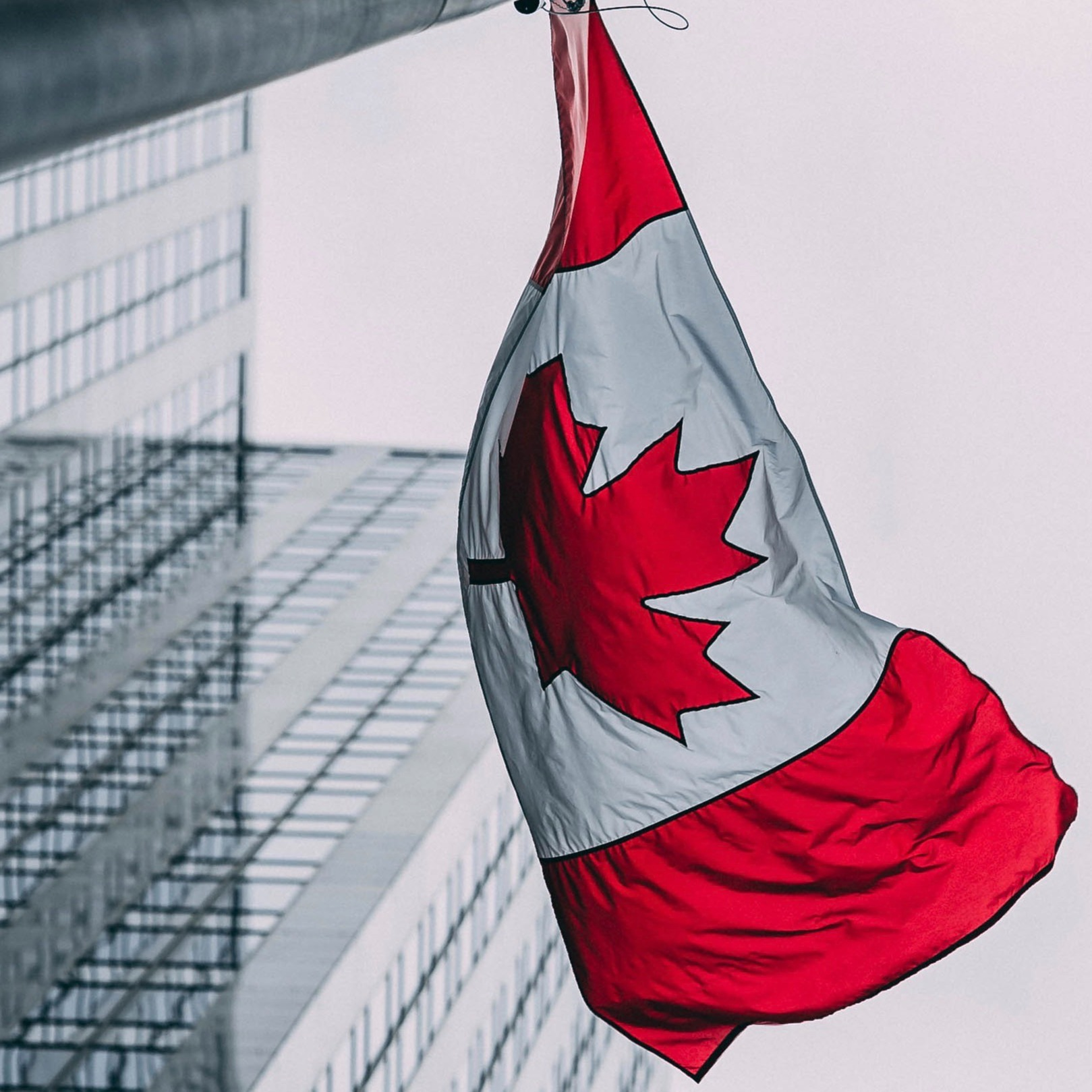 Low-angle Canadian Flag-1
