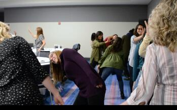Participants using Theatre tool