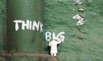 Writing on wall think big