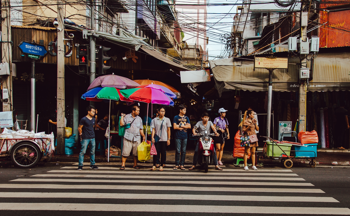 people at crosswalk