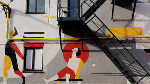 street art with staircase