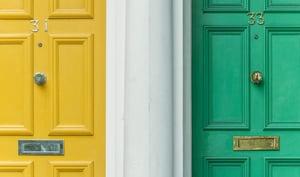 two neighbourhood doors