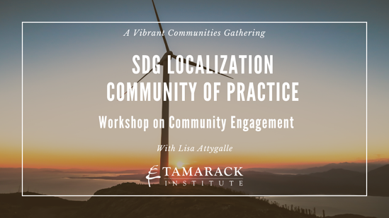 SDG Localization CoP - Workshop