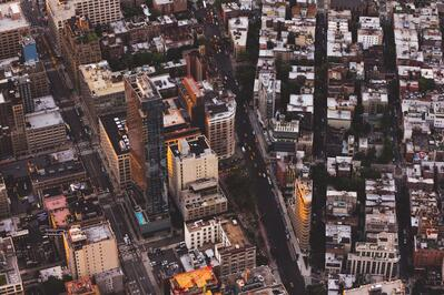 Sky view of city