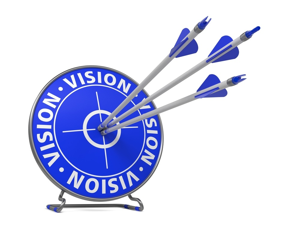 Vision Concept. Three Arrows Hit in Blue Target..jpeg