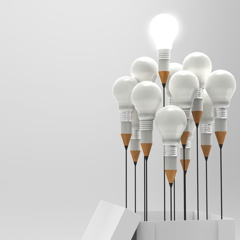drawing idea pencil and light bulb concept outside the box as creative and leadership concept.jpeg