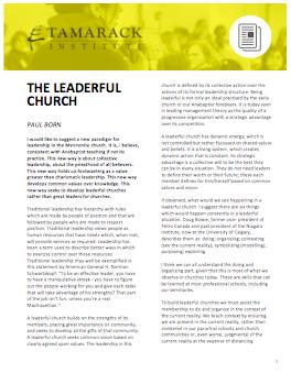 Leaderful Church