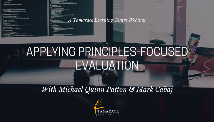 Webinar Applying Principles-Focused Evaluation