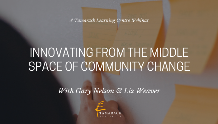 Webinar Innovating from the Middle Space of Community Change