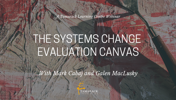 2019 Webinar The Systems Change Evaluation Canvas