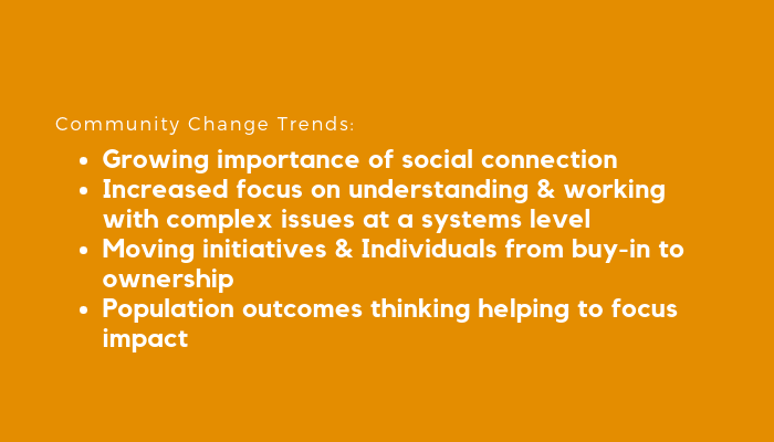 Latest trends in Community Change webinar