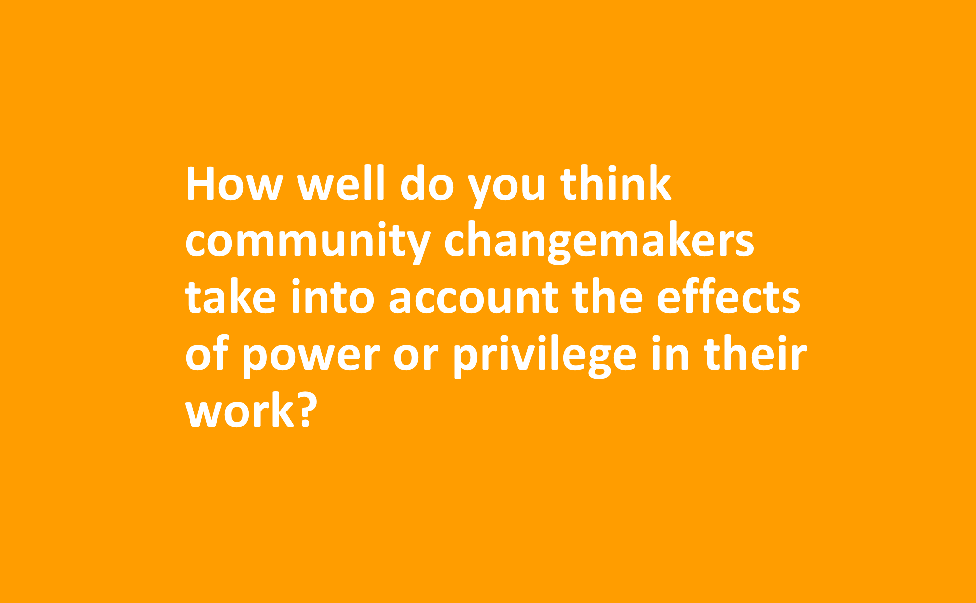 Power, Leadership, and Community