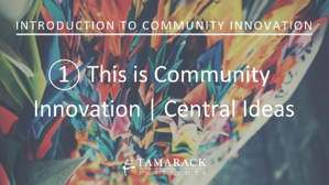 2019 Introduction to Community innovation Lesson 1