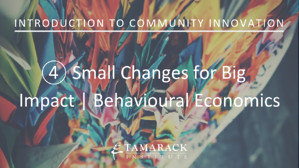 2019 Introduction to Community innovation Lesson 4