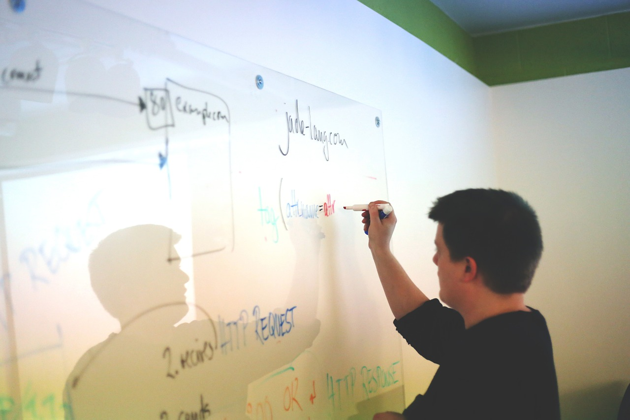 stakeholder writing on a wall