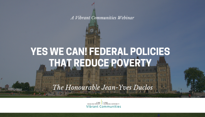 Yes We Can! Federal Policies that Reduce Poverty